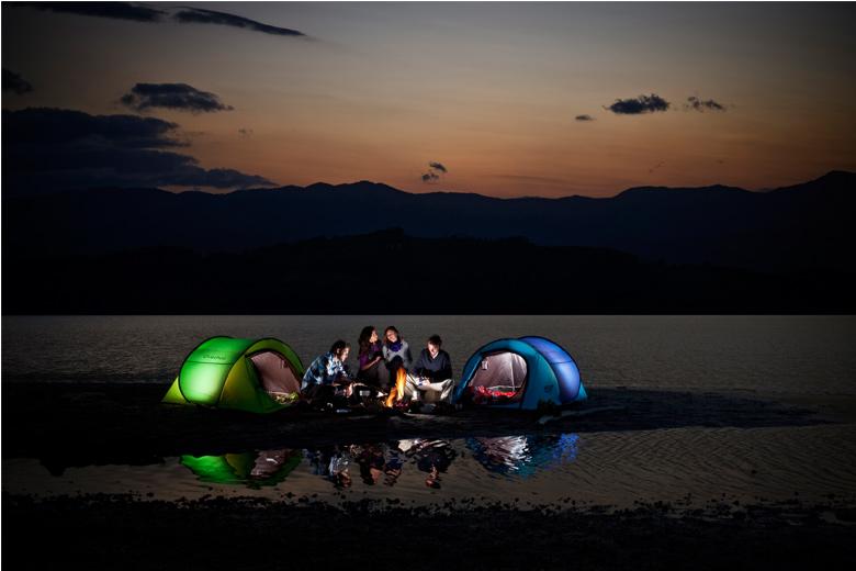 Super De snel opzetbare tent van Quechua OS-54